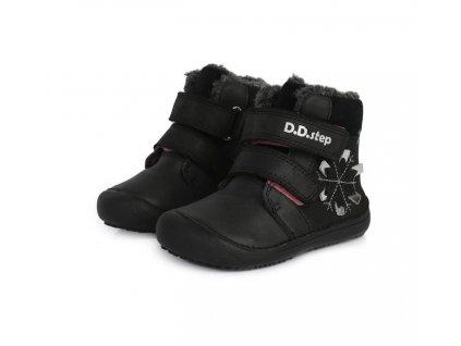 D.D.step zimní barefoot boty 063-915M Black