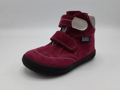 Jonap zimní barefoot obuv B5/SV s membránou vínová