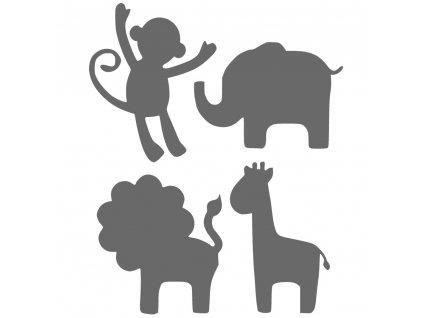 Šijeme srdcem nažehlovací obrázky Safari zvířátka 9005