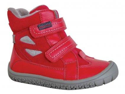 Protetika zimní barefoot obuv Elis Red
