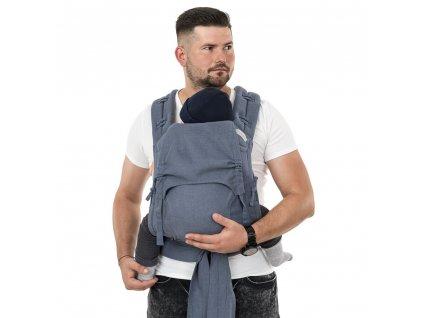 Ergonomické nosítko Fidella FlowClick Toddler - Chevron Denim Blue