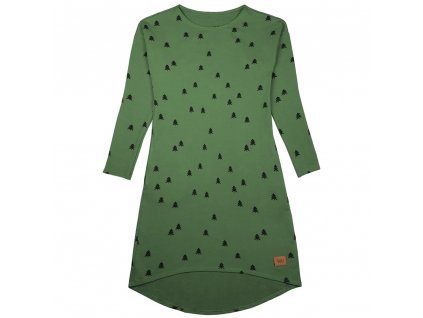 Šijeme srdcem Khaki šaty les s kapsami 1046-DR