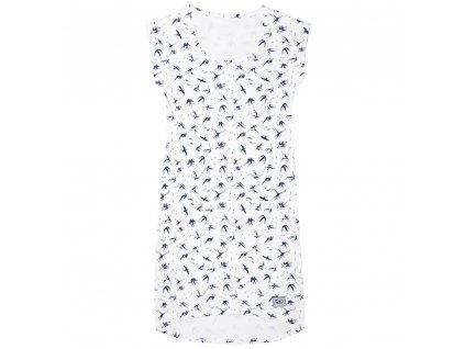 Šijeme srdcem Letní smetanové šaty vlaštovky 0023