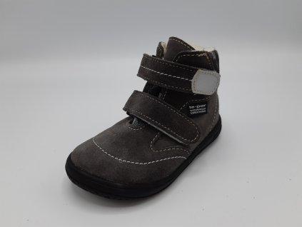 Jonap zimní barefoot obuv B5/SV SLIM s membránou šedá