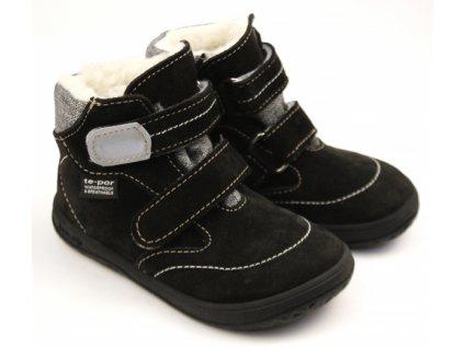 Jonap zimní barefoot obuv B5/SV s membránou černo-šedá