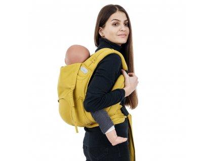 Ergonomické nosítko Fidella FlowClick Toddler - Chevron Mustard