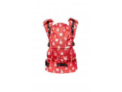 Ergonomické nosítko Lenka Mini Fruits Red klasické popruhy + chrániče ramenních popruhů