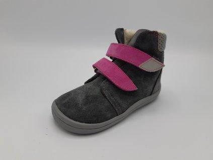 Beda vyšší zimní barefoot obuv Isabel 2020 s membránou 0004/W/VMK