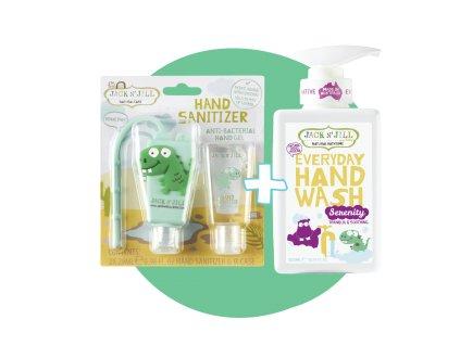 Jack N´Jill Set přírodní mýdlo Serenity + antibakteriální gel Dino