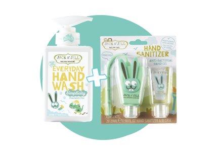 Jack N´Jill Set přírodní mýdlo Simplicity + antibakteriální gel Zajíc