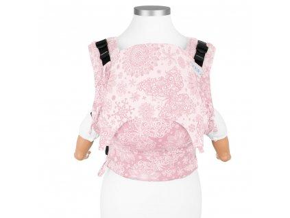 Ergonomické nosítko Fidella Fusion BABY SIZE – Iced Butterfly – Pale Pink Rosé