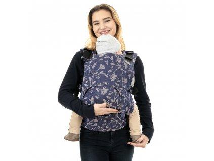 Ergonomické nosítko Fidella Fusion Toddler 2.0 - Floral Touch Eclipse Blue