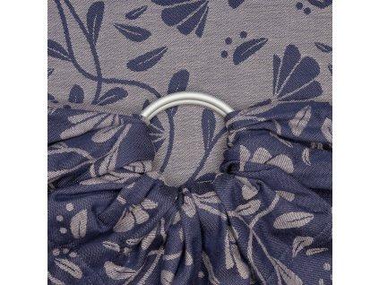 Ring sling šátek na nošení dětí Fidella - Floral Touch Eclipse Blue