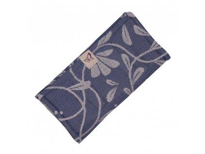 Slintáček / Chránič popruhu Fidella - Floral Touch Eclipse Blue