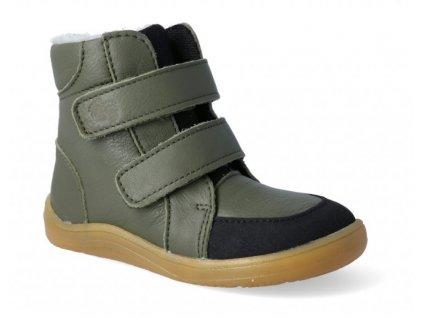 Baby Bare Shoes zimní barefoot obuv FEBO Winter Khaki