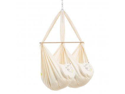 swinging hammock set twin classic with polyester mattress and ceiling fixture natural