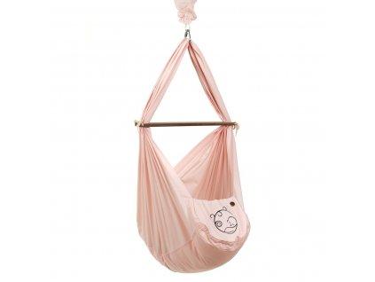 Nonomo hacka BABY set s polyesterovou matrací včetně uchycení - Rosé