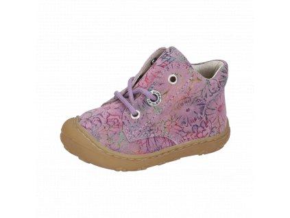 Ricosta barefoot celoroční obuv Dots Purple 12232/323
