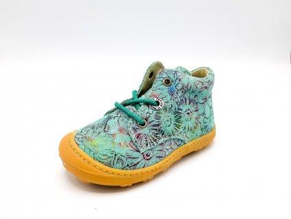 Ricosta barefoot celoroční obuv Dots Jade Flow 12232523