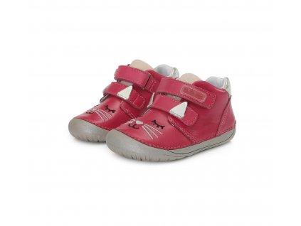 D.D.step celoroční barefoot obuv 070-866A Dark Pink