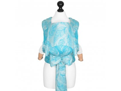 baby size fly tai mei tai baby carrier feather rain scuba blue