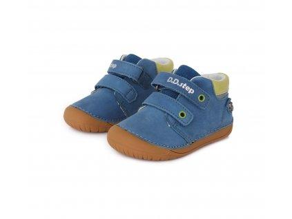 D.D.step celoroční barefoot obuv 070-387 Bermuda Blue