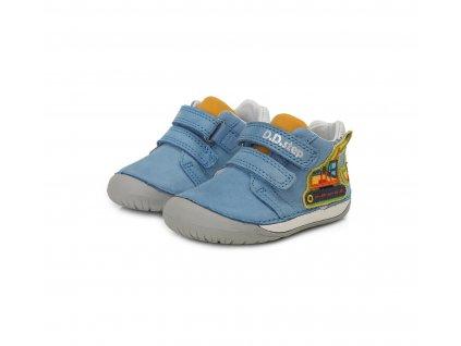 D.D.step celoroční barefoot obuv 070-506B Sky Blue