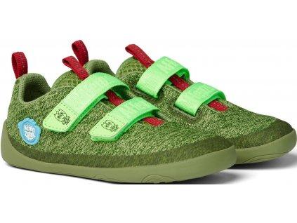 Affenzahn barefoot obuv Lowcut Knit Dragon-Green