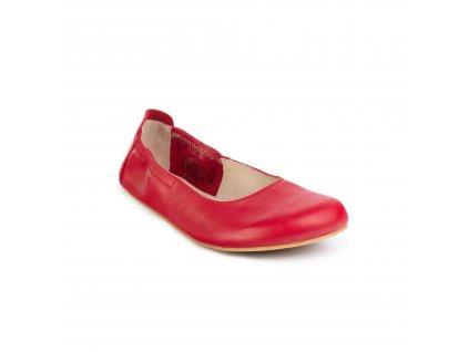 Angles Fashion barefoot baleríny AFRODITA Light Red