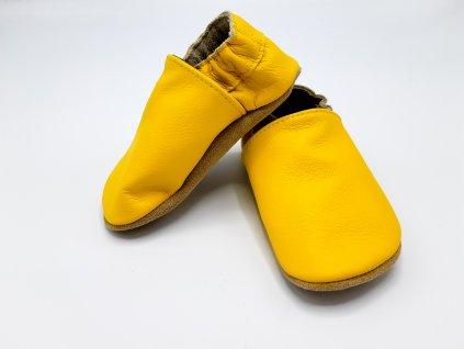 baBice barefoot capáčky Plain Sunny Yellow žlutá BA-058