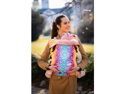 Ergonomické nosítko Be Lenka Mini Mandala Night klasické popruhy + chrániče ramenních popruhů
