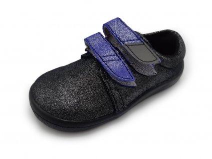 Beda celoroční barefoot obuv Dark Violette nízký BF 0001/WN