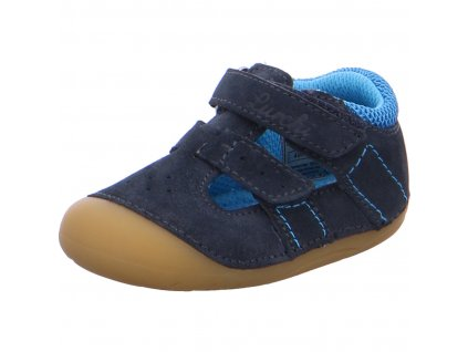 Lurchi barefoot sandály Fioli Suede Navy 33-13902-22