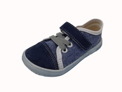 Jonap barefoot tenisky B15 Airy modrá riflová