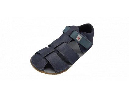 EF Barefoot sandály šedá modrá