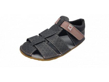 EF Barefoot sandály baleríny šedá růžová