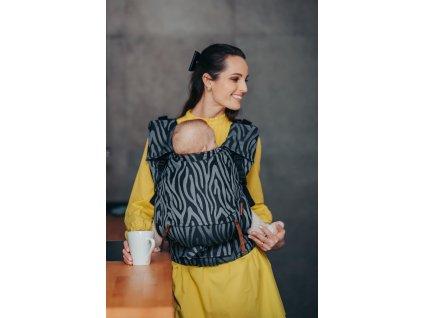 Ergonomické rostoucí nosítko Be Lenka Neo Zebra Grey široké popruhy + chrániče ramenních popruhů