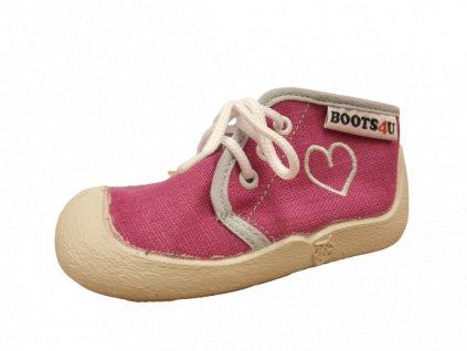 Boots4U textilní tenisky capáčky T015A lila