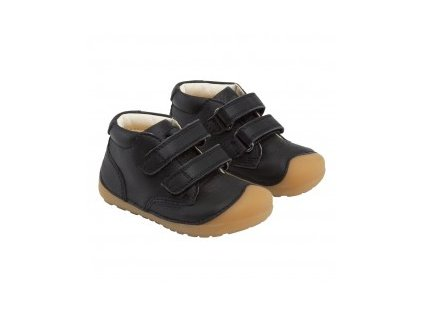 Bundgaard celoroční barefoot obuv Petit Velcro Black/GUM 100