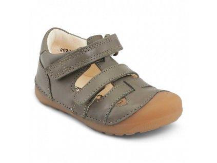 Bundgaard barefoot sandály Petit Sandal Army WS BG202066-608