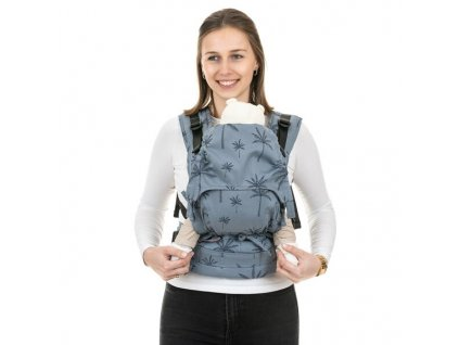 fusion fullbuckle baby carrier palm trees dove blue baby