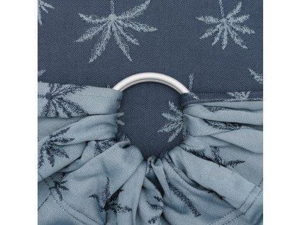 Ring sling šátek na nošení dětí Fidella - Palm Trees Dove Blue