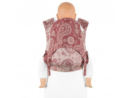 ergonomické nosítko fidella flyclick plus baby carrier classic persian paisley ruby red