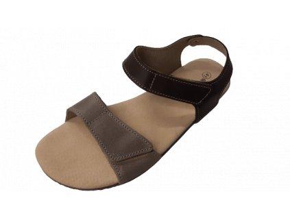 Protetika dámské barefoot sandály Belita hnědo šedá 40