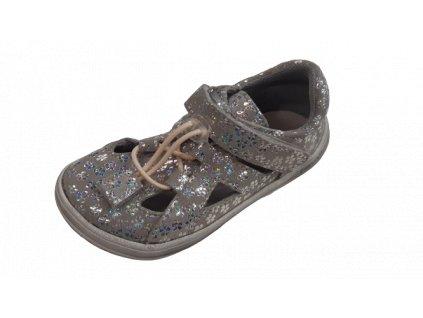 Jonap barefoot sandály B9/S SLIM šedá tisk
