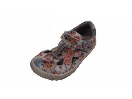 Jonap barefoot sandály B9/M kytka tisk