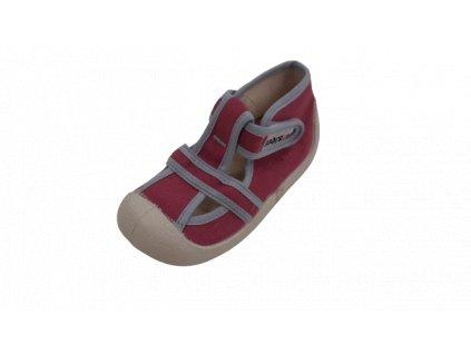 Boots4U textilní sandály capáčky T020 lila