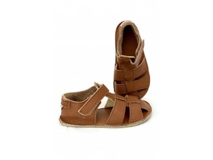 Baby Bare Shoes barefoot sandály/přezůvky Sandals New All Brown