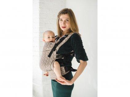 Ergonomické rostoucí nosítko Kavka Multi-Age Multi-Age Sandy Braid + slintáčky
