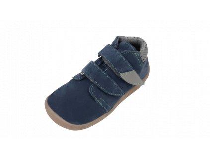 Beda celoroční  barefoot obuv Mateo vyšší s membránou na suchý zip 0001/WM/2